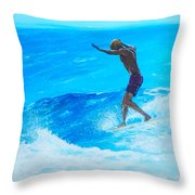 Toes To The Nose Throw Pillow