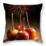 Toffee Apples Group Throw Pillow by Amanda Elwell