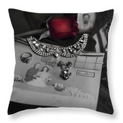 Together Again Black And White Throw Pillow