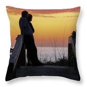 Together At Sunset  Throw Pillow