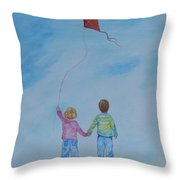 Together Flying Throw Pillow