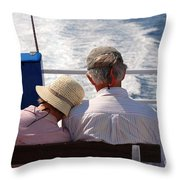 Together In Greece Throw Pillow