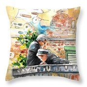 Together Old In Italy 01 Throw Pillow