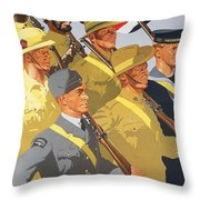 Together Propaganda Poster Throw Pillow by Anonymous