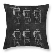 Toilet Paper Patent 040 Throw Pillow