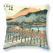 Tokaido - Kyoto Throw Pillow