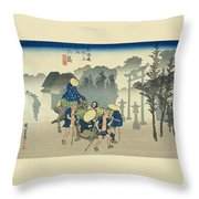 Tokaido - Mishima Throw Pillow