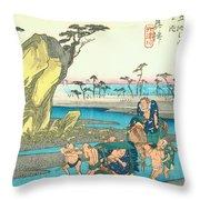 Tokaido - Okitsu Throw Pillow