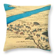 Tokaido - Shimada Throw Pillow