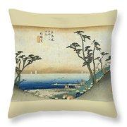Tokaido - Shirasuka Throw Pillow