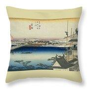 Tokaido - Yoshida Throw Pillow