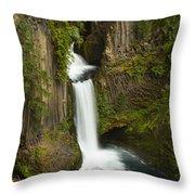 Tokettee Falls 1  Throw Pillow