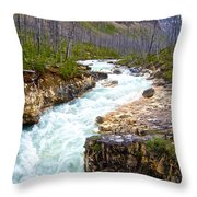Tokuum Creek Flowing Into Marble Canyon In Kootenay Np-bc Throw Pillow