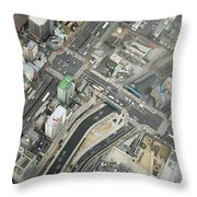 Tokyo Intersection Throw Pillow
