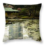 Tokyo Reflection Throw Pillow