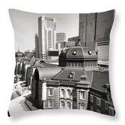 Tokyo Station Throw Pillow