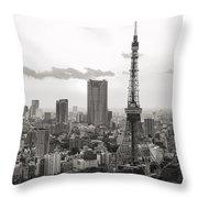 Tokyo Tower And The Zozo-ji Temple Throw Pillow