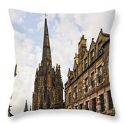 Tolbooth St Johns Kirk Throw Pillow