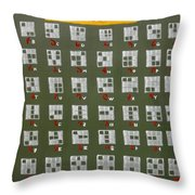 Tolgul Alphabet For 9 Bits Shapes Throw Pillow