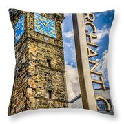 Tollbooth Clock Tower Glasgow Throw Pillow
