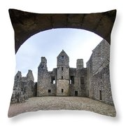 Tolquhon Castle 3 Throw Pillow