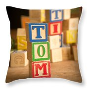 Tom - Alphabet Blocks Throw Pillow