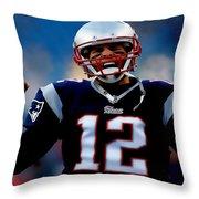 Tom Brady Back To The Super Bowl Throw Pillow
