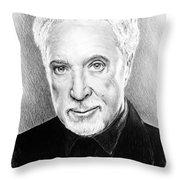Tom Jones Throw Pillow by Andrew Read