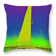 Tom Ray's Sailboat Throw Pillow