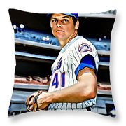 Tom Seaver Throw Pillow