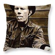 Tom Waits Artwork 2 Throw Pillow