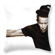 Tom Waits Artwork  4 Throw Pillow
