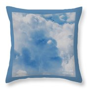 Tom Waits Caught In A Cloud Throw Pillow