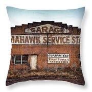 Tomahawk Garage Throw Pillow
