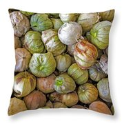 Tomatillos At The Local Market Throw Pillow