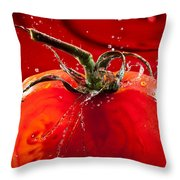 Tomato Freshsplash 2 Throw Pillow
