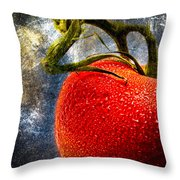 Tomato On A Vine Throw Pillow