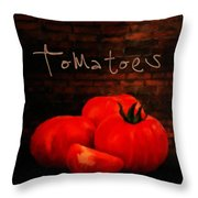 Tomatoes II Throw Pillow