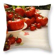 Tomatoes Tomatoes Throw Pillow