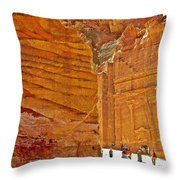 Tomb 67 In Petra-jordan Throw Pillow