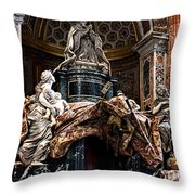Tomb Of Pope Alexander Vii By Bernini Throw Pillow