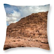 Tombs Of Petra Throw Pillow