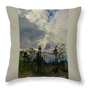Tombstone Picture Perfect Halloween Image Throw Pillow