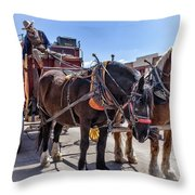 Tombstone Stagecoach 2 Throw Pillow