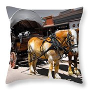 Tombstone Wagon Throw Pillow