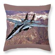 Tomcat Over Iraq Throw Pillow