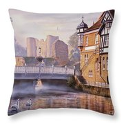 Tonbridge Castle Throw Pillow