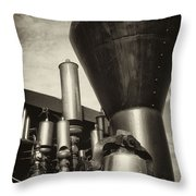 Toned Whistles And Bells Throw Pillow