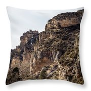 Tongue River Canyon Throw Pillow
