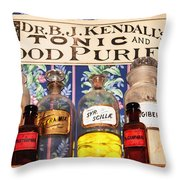 Tonic And Blood Purifier Throw Pillow
